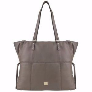 kooba genuine leather taupe tote bag new NWT